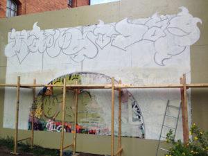 Graffiti-målning ArtLab väggen 2014