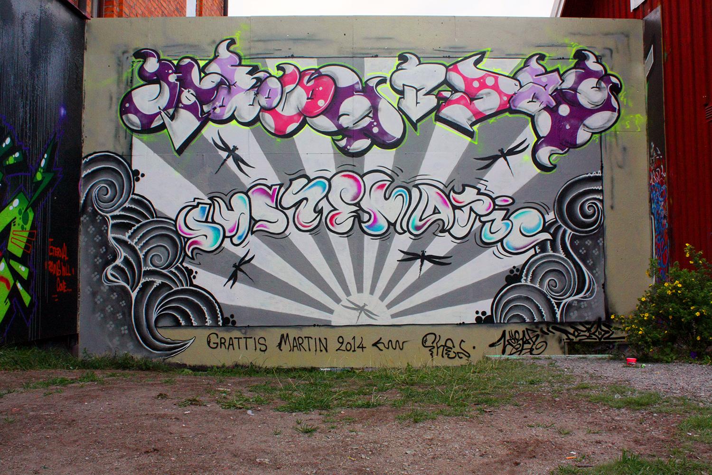 Graffiti-målning till en favorit-Dj