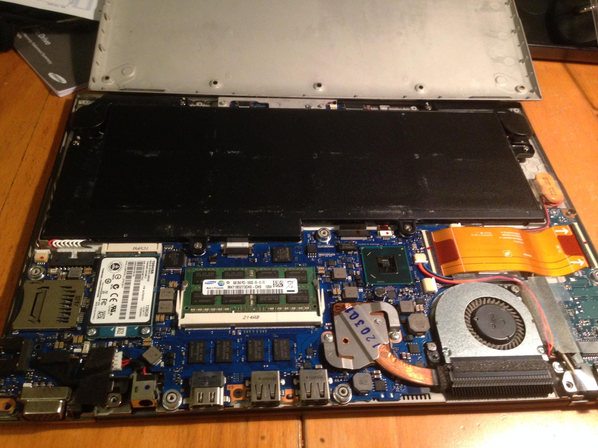 Konsten att byta en ssd disk på en Toshiba